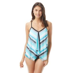 Beach House Kerry Mesh Layer Underwire Tankini Top - Sunsational Stripes