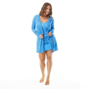 Beach House Indra Lace Hooded Zip-Up Cover Up Jacket - Crochet Soleil