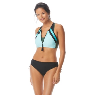 Beach House Sport Synergy Color Blocked Racerback Bikini Top - Front Runner