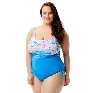 Beach House Plus Size Julie Tankini Top - Between the Lines