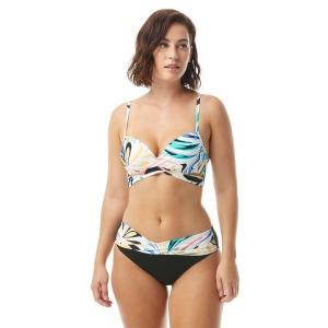 Coco Reef Enrapture Bra Sized Wrap Underwire Bikini Top - Retro Swirl